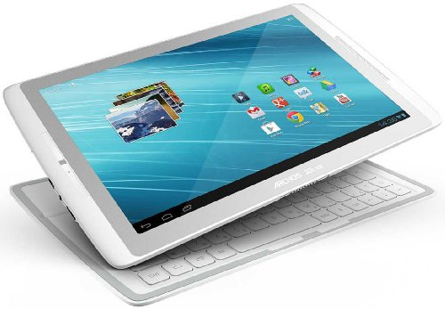 Archos 101XS 25,7 cm (10,1 Zoll) Tablet-PC (Touchscreen, ARM Cortex, 1.5 GHz Multicore, 1 GB RAM, 16 GB Flash, Android 4.0) inkl. Coverboard weiß/silber