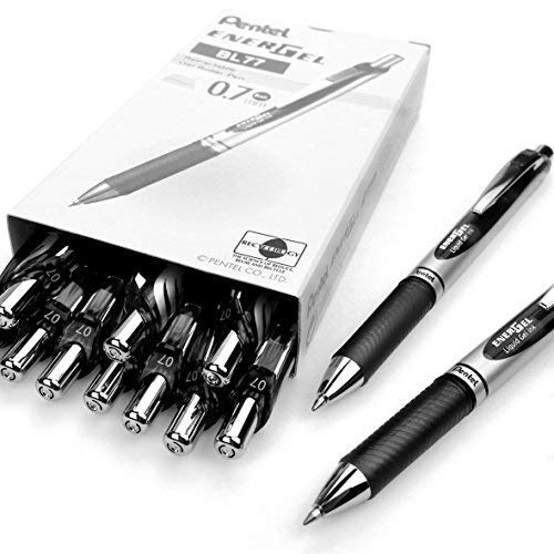Pentel, EnerGel XM BL77, penna gel retrattile, 0,7mm, riciclata al 54%, confezione...