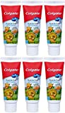 Colgate My First Baby and Toddler Training Toothpaste, Fluoride Free & SLS Free, Age 0-2 - 1.75 Ounce (6 Pack)