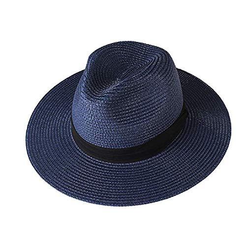 N\A Sombreros de verano para hombre y mujer Panamá Sombreros de viaje playa sombrero sombrero de ala ancha Fedora Jazz sombrero