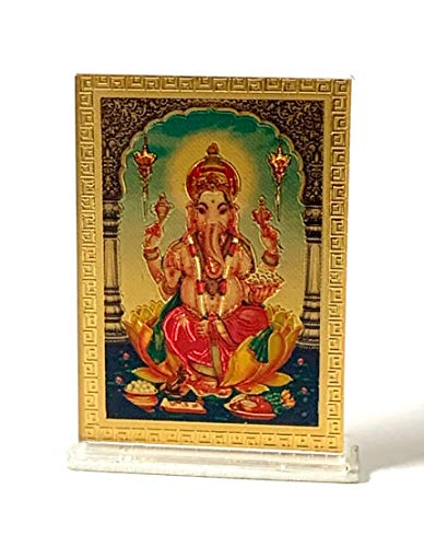 AWAKEN YOUR KUNDALINI Hindu God Goddess Acrylic Photo Frames Ganesh Laxmi Panchmukhi Hanuman Shiva Saibaba Durga Saraswati Buddha Vishnu Narayan Ram Darbar Om Tirupati Balaji (Ganesh Ganpati)