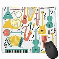 バイオリンピアノ楽器3 マウスパッド 光学マウス 滑り止め超極細繊維 洗える ファッション ゲーム pcマウスパッド オフィス 耐久性 25X30cm
