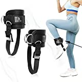 KIAA ZUIN Ankle Straps for Cable Machines Pair, Adjustable Ankle Buckle Suitable for Men and Women,Abdominal MusclesLeg and Glute Abductors Strength Training, Ankle Strap Accessories with Rope