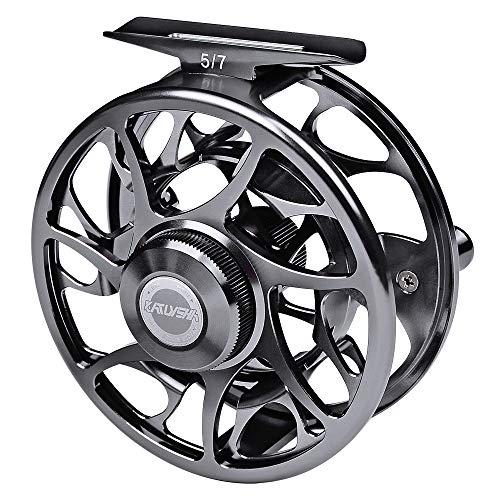 PROBEROS Carrete de Pesca con Mosca Carretes de Mosca, CNC Mecanizado de Aleación de Aluminio Cuerpo Gran Eje Carrete 5/7 7/9 9/10 WT