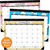 Large Desk Calendar 2020-22 x 17 Inches Desk Calendar 2020, Large Wall Calendars with Thick Paper, Smooth Writing, Large Space for Writing Notes, 14 Monthly Floral Designs, Office Calendars 2019-2020