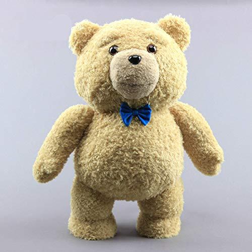 N\A 40cm Großer Teddybär Mit Blauer Krawatte Plüschtierpuppe, Niedlicher Teddybär Kuscheltier Spielzeug, Kinder Frauen Geburtstagsgeschenk 40cm A