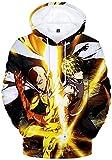 Men's One Punch Man Saitama Oppai Hoodie Anime Costume 3D Printed Sweatshirt (One Punch 5573,Small)