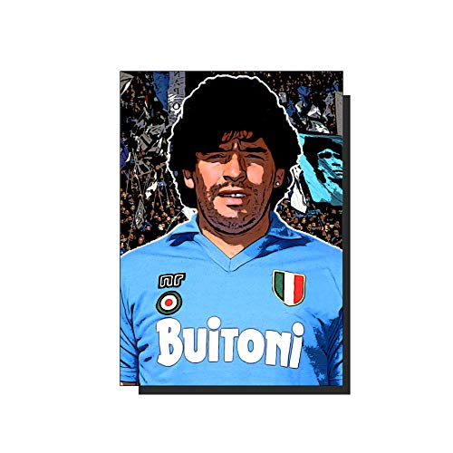 Generico Poster Maradona Napoli Caricatura