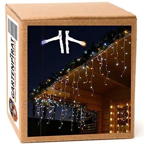 Eisregen Lichterkette 12m 480 LED-Mix warmweiß/kaltweiß außen Weihnachten