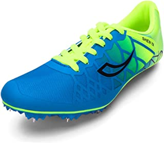 Track Shoes Boys Girls Spikes Training Sneakers Lightweight Racing Running Shoes Track and Field with Spikes for Kids, Youth …
