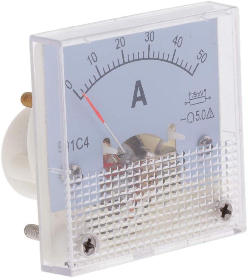 PETSOLA 1x 0-15A 20A 30A 50A DC Analog Panel Volt Voltage Meter Voltmeter Jauge 91C4-0-15A 75mV