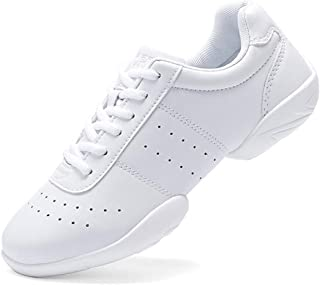 Adult & Youth White Cheerleading Shoes Sport Training Tennis Sneakers Competition Cheer Shoes