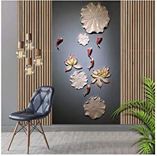 SIZOO - Wall Stickers - New Chinese Resin Lotus Fish Wall Sticker Decoration Home Livingroom TV Background Wall Pendant Ho...