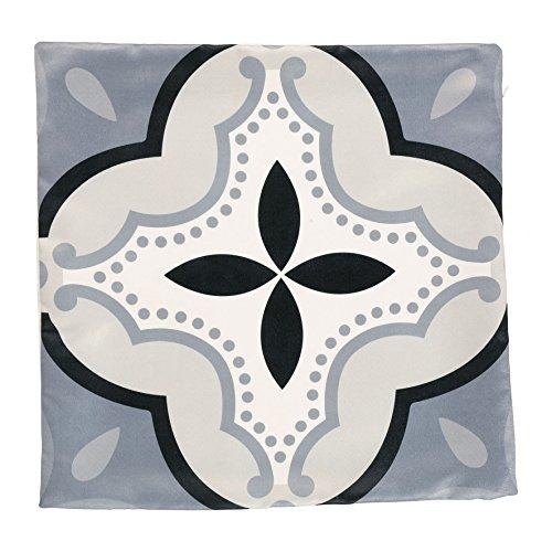 Ostaria Housse de Coussin carré Motif Castel, Polyester, Taupe, 40 x 40 x 3 cm