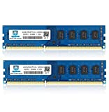 Motoeagle DDR3L-1600 Udimm 8GB Kit (4GBX2), DDR3 PC3 PC3L 12800U 4GB 2RX8 1.35V 240-Pin Dual Rank Non ECC Unbuffered Desktop Memory