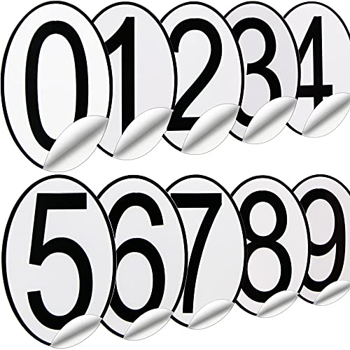 200Pcs Mailbox Numbers, Mailbox Numbers for Outside, Number Stickers, Waterproof and Fade, 3In, Premium Easy to Install Adhesive Vinyl Removable, Repeated Use Black