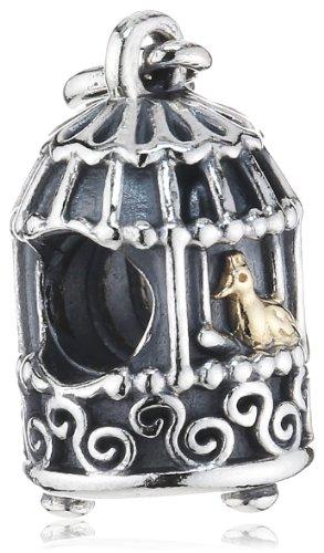 Pandora Damen-Charm 925 Sterling Silber Vogelkäfig 791114
