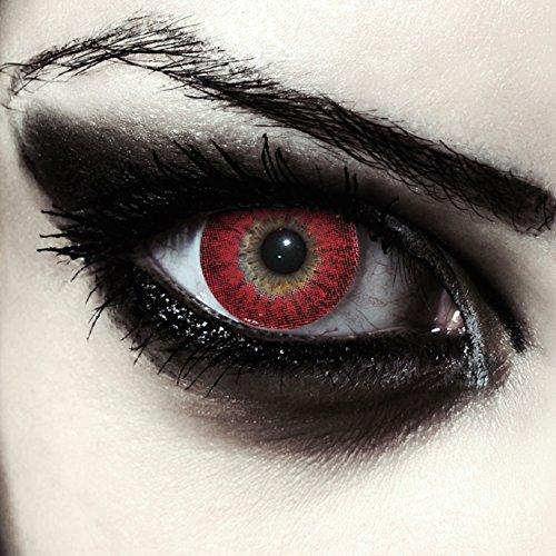 Designlenses Rosse Mannaro Lenti a Contatto Colorate Rosso, morbide, Non corrette Modello: Red Werewolf