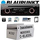 Mercedes C-Klasse W202 - Autoradio Radio Blaupunkt Alicante 170 - CD/MP3/USB - Einbauzubehör - Einbauset