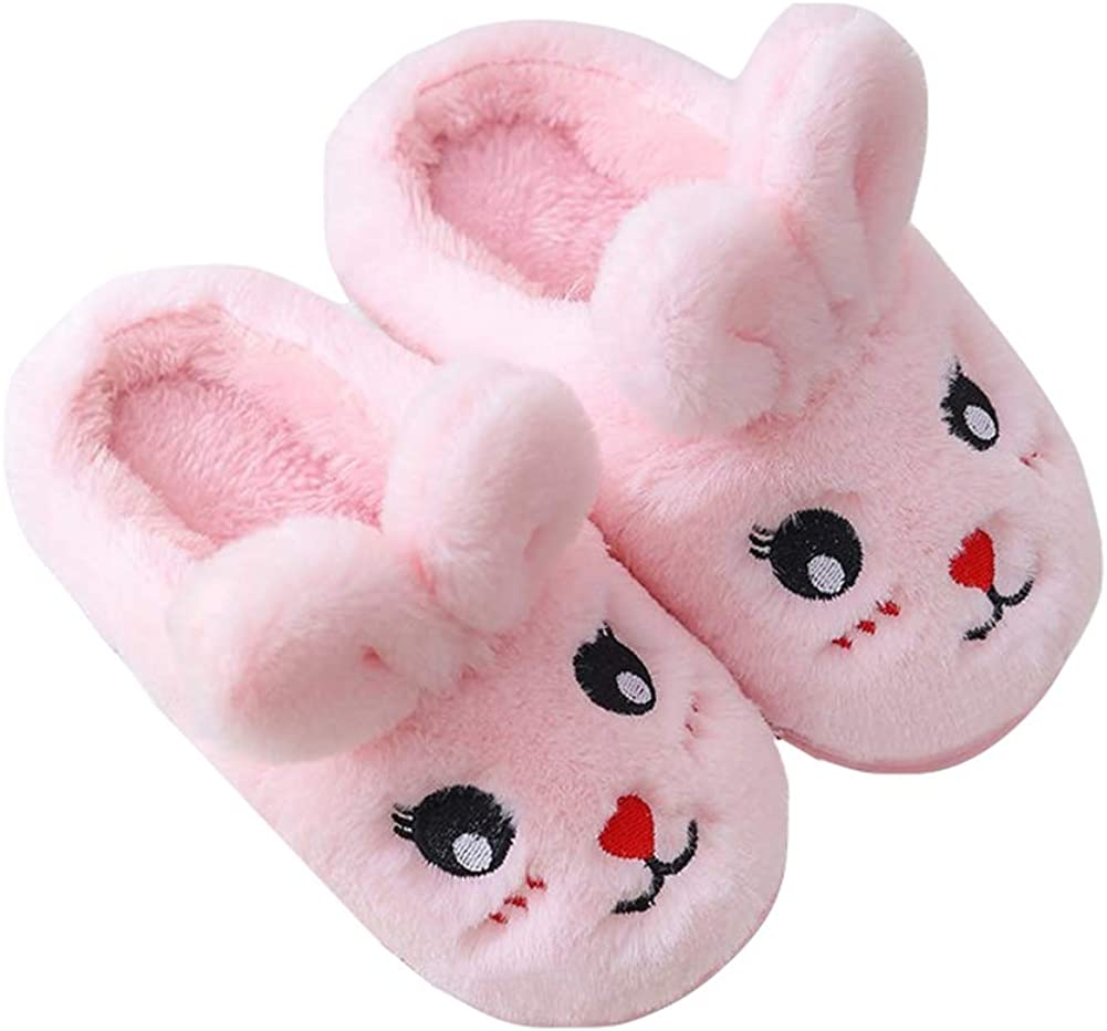 Fuzzy Bunny Slippers - Houston Mall Cute Rabbit Year-end annual account Girls Home Shoes for Kid Boys