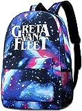 Starry Sky School Backpack,Greta Van Fleet Travel Backpack Galaxy Bookbag for Kids Boys Girls