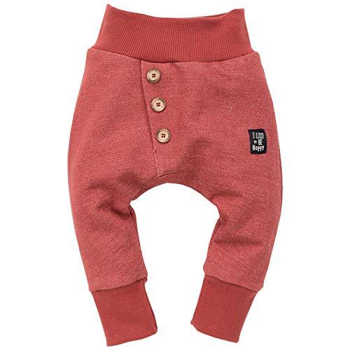 Pinokio - Happy Llama - Unisex Baby Hose 100% Baumwolle mit elastischer Bund   Jogginghose, Haremshose Pumphose Schlupfhose   Ziegelrot (92 cm, Ziegelrot)