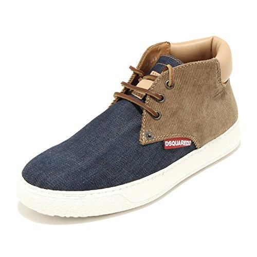 DSQUARED 9479G Sneakers Polacchino Uomo D2 Tessuto Jeans Velluto Scarpe Shoes Men [43.5]