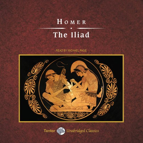 The Iliad                   By:                                                                                                                                 Homer,                                                                                        Alexander Pope - translator                               Narrated by:                                                                                                                                 Michael Page                      Length: 20 hrs and 9 mins     4 ratings     Overall 3.8