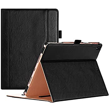 ProCase iPad Air  3rd Gen  10.5  Case 2019 Vintage Stand Folio Case Cover for Apple iPad Air  3rd Gen  10.5  2019 and iPad Pro 10.5 2017 Multiple Viewing Angles with Apple Pencil Holder -Black