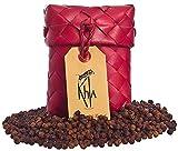 KHLA - Pimienta roja de Kampot Premium IGP - 50g - Pimienta en Grano en Sobre - Procedente de la Agricultura Ecológica - Embalaje Tradicional en Hojas de Palma