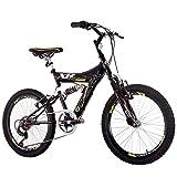 Bicicleta Track & Bikes Aro 20 Xr 20 6v Dupla Suspensão - Preta e Amarela