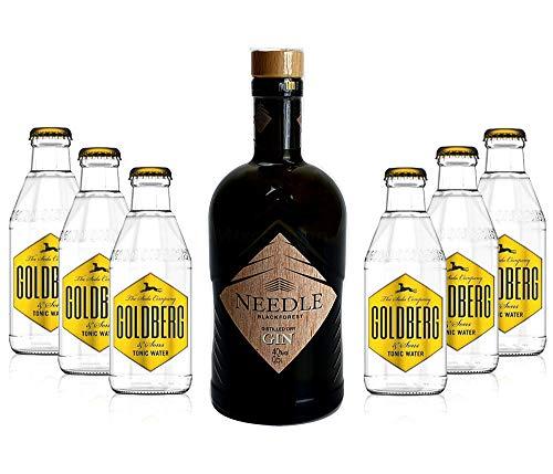 Needle Blackforest Dry Gin 0,5L (40% Vol) + 6 x Goldberg Tonic Water 0,2l MEHRWEG inkl. Pfand- Needle Blackforest Dry Gin