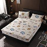 XGguo Protector de colchón - Protector de colchón antialérgico Sábana más Gruesa de una Sola Pieza Antideslizante-8_120 × 200cm