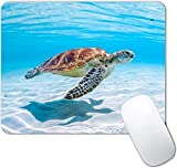 Sea Turtle Mouse Pad Non-Slip Rubber Base Gaming MousePads for Computers Laptop Office,Cute Mouse Pads with Designs for Women ,9.5'x7.9'x0.12'( 240mm x 200mm x 3mm)