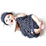 MYGYSJK Bebé Recién Nacido Niño Niña Sombrero De Punto De Ganchillo Beanie Swaddle Blanket Outfit Photo Props 1#