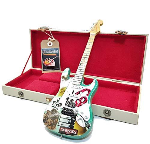mini guitar Green Day Billie Joe Armstrong stratocaster tribute model + hard case box miniature in scala 1:4 chitarra in miniatura con custodia da collezione music gadget rock memorabilia