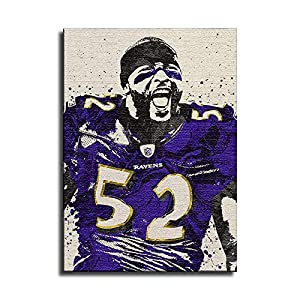 xiaohanhan Ray Lewis Baltimore Ravens Canvas Art Poster and Wall Art Picture Print Modern Family Bedroom Decor Posters