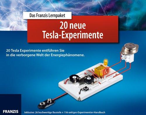 20 neue Tesla-Experimente, Buch, Laborsteckboard u. 16 Bauteile