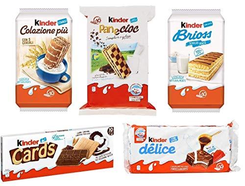 Testpaket Kinder Ferrero Brioss Colazione più Panecioc delice snack cards