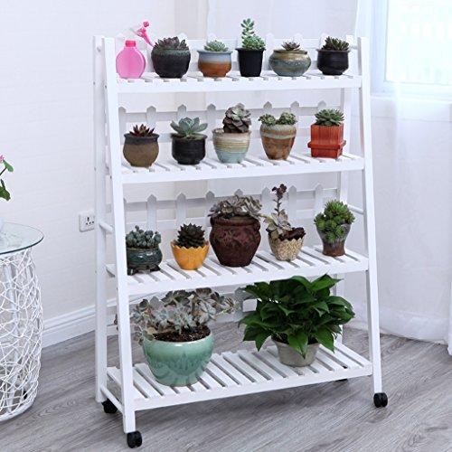 Présentoir à motifs multicouches à étagères en bois multicolore étagère à bois salon de fleurs salon de jardin intérieur ( Couleur : Blanc , taille : 70*115cm )