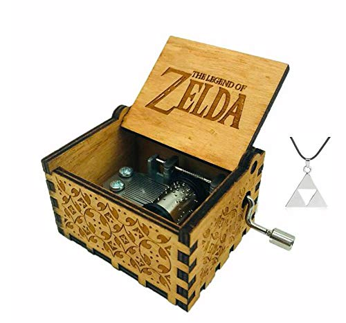 Cuzit The legend of Zelda Movie Theme antico intagliato Music Box della manovella carillon in legno giocattolo