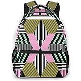 Unisex Rucksack Retro Bauhaus Style Bookbag Leichte Laptoptasche für Schulreisen Outdoor Camping