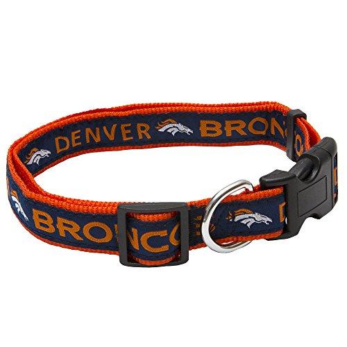 Pets First NFL Denver Broncos STRONG & ADJUSTABLE DOG Collar, Large