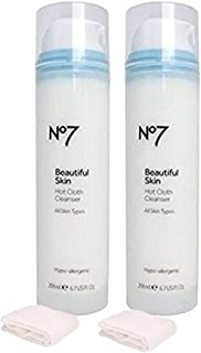 Boots No7 Radiance Boosting Hot Cloth Cleanser 6.7 fl oz (TWO - PACK)