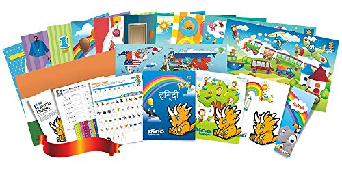 Compare Textbook Prices for Hindi Poster and Book Set for Kids  ISBN 9781535726108 by Dino Lingo