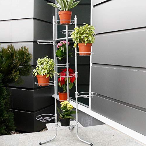 11 Silber Blumenablage Blumenständer Pflanzentreppe Blumensäule faltbar