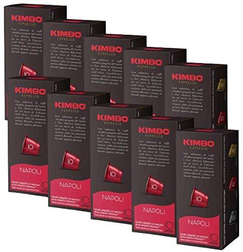 CAFÉ KIMBO NAPOLI - Box 100 CÁPSULAS COMPATIBLES NESPRESSO 5.5g