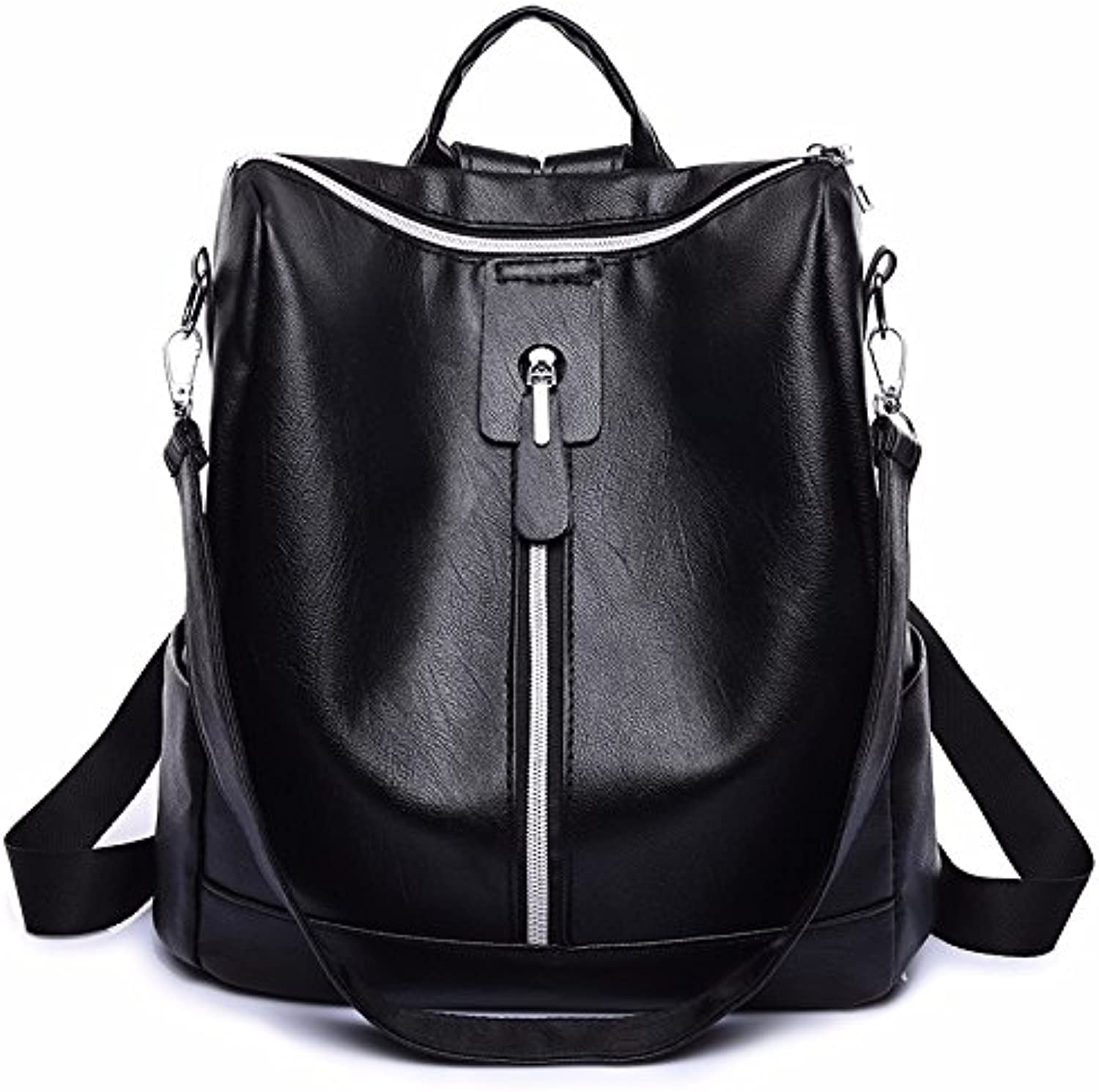 New Style Pu Dual use Shoulder Bag, Women's Simple Fashion Backpack Soft Leather Bag Travel Bag
