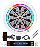 GRAN BOARD 3S (Limited White) Online Bluetooth Smart Dartboard for Adults & Game Room Package c/w -Gran Bracket, Throw line Sticker, Smartphone Holder, Extra tip 50pcs, Adapter, Cable & FCX Dart.