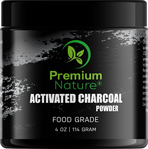 Activated Charcoal Teeth Whitening Powder - All Natural Black Charcol Toothpaste Dental Powder Safe & Gentle for Gums & Sensitive Teeth Brighter Smile Tooth 4 oz
